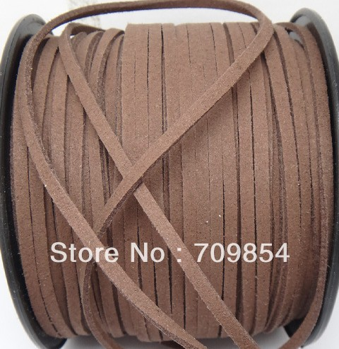 free shipping!!! new 100yard/roll 5mm geunine suede Leather Cord ---BROWN(China (Mainland))