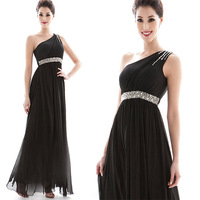 2014 Rushed Vestido De Festa Dresses Fashion New Sexy Monoclinic Shoulder Dress Manual Rhinestone Beautiful Dinner Free Shipping