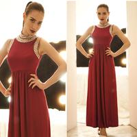 Fashion vintage fashion senior beading full dress vest one-piece dress Free shipping