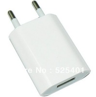 New Wall EU Europe Travel USB Charger adapter For iPhone 4 free shipping 5pcs/lot