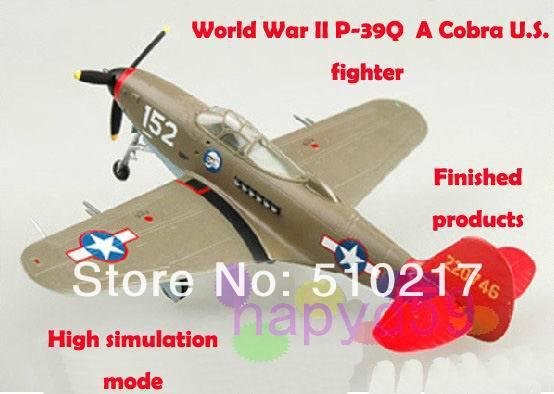 9pcs 1/72 finished world war II piston propeller fighter model military aircraft model P-39Q Cobra U.S. fighter free ship(China (Mainland))