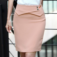 Fashion Formal Dress Suit Skirts Plus size Rivet Ornament Slimming Lady Pencil Skirt