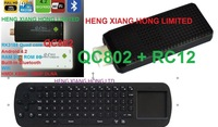 [ Free  RC12 air fly mouse ] stick  Anroid 4.2 Quad Core RK3188  Bluetooth Wifi TV Box  XBMC RAM 2G ROM 8GB tv dongle QC802