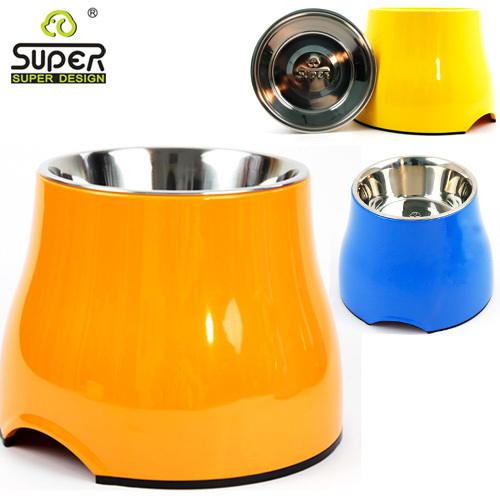 Free Shipping Super melamine pet bowl footed bowl slip-resistant bowl chromophous s m(China (Mainland))