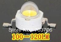 Free Shipping 100pcs High power 1W 100-120LM 3.2-3.4V White led lamp 6000-6500K