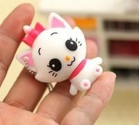 Free shipping 10pcs/lot Real 2GB 4GB 8GB  Rubber Cute Cat USB 2.0 Flash Memory Stick Pen Drive Thumb drive U Disk Gift