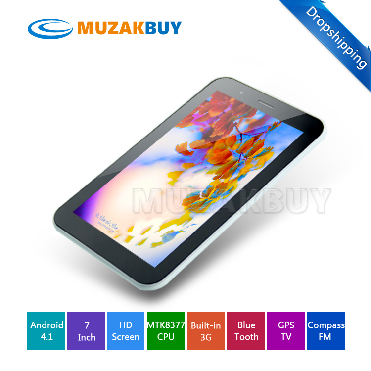 "Dropshipping 7"" ZXC Z7 MTK8377 Tablet PC Dual SIM Card Slot Android 4.1 OS OTG ATV FM Dual Cameras Back 5.0MP(China (Mainland))"
