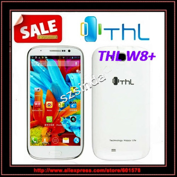 5inch THL W8+ Quad Core phone Android 4.2  1GB/16GB ROM  Daul Camera  WCDMA GPS WIFI cellphone / Anna