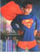 Free shipping new Kids Superman Cosplay Costume Halloween Christmas Gift