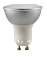 Free shipping 46pcs/lot 5.5W 350LM Warm White GU10 LED spotlight 120degree Beam