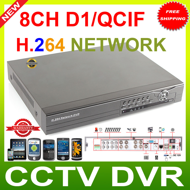 8CH CCTV H.264 2CH D1 surveillance standalone DVR REAL-TIME Support 3G mobile phone view(China (Mainland))
