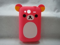 Hotsale Cute Easily bear Phone Case for HTC Wildfire S G13,High Quality Cell Phone Case Silicone