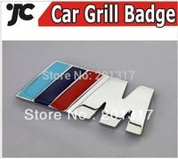 5pieces /sets  Metal M Style Car Emblem Badge for BMW Car Grill Car Grille Badges