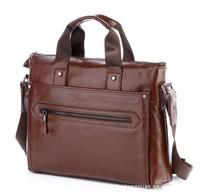 38CM Quality Buffalo Hide Leather Messenger Bag For Men / 2013 Vintage Genuine Leather Men's Bag / Men's Messenger Bag (BN015)