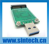 USB 3.0 mini SATA mSATA SSD adapter card as disk driver for mini pci-e intel pin-out SSD