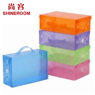 Flip shoebox transparent drawer shoe box crystal thickening plastic shoe box drawer storage box(China (Mainland))