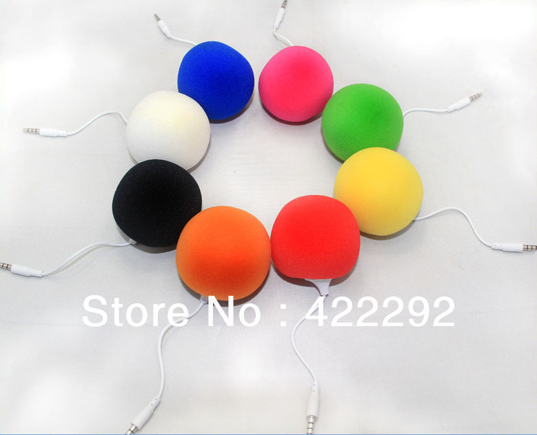 Hot-sale! Free Shipping 10pcs/lot Multi-Color Creative Mini Music Balloon Speaker for MP3 MP4 Cell Phone ipod(China (Mainland))
