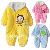 Baby baby romper newborn boy cotton-padded clothes and climb autumn and winter thickening thermal wadded jacket