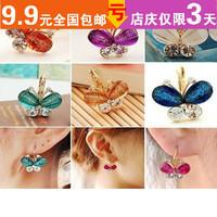 Accessories earrings resin wings butterfly bling gold earrings earring female