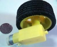 Freeshipping DC geared motor single axie  DC motor with wheel