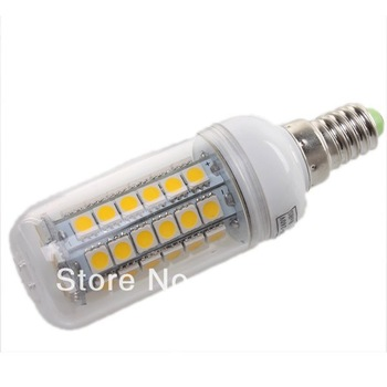 1pc Wholesale E14 7W 30 SMD 5050 LED High Power Light White/ Warm white bedroom light corn spot lamp 710137