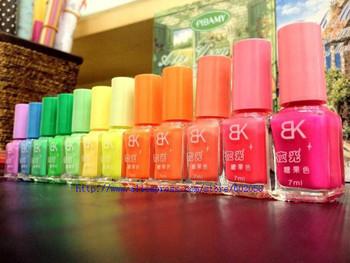 wholesale 20 colors Popular Luminous Nail Polish nail art / Fluorescent nail Enamel 100pieces / lot free shipping