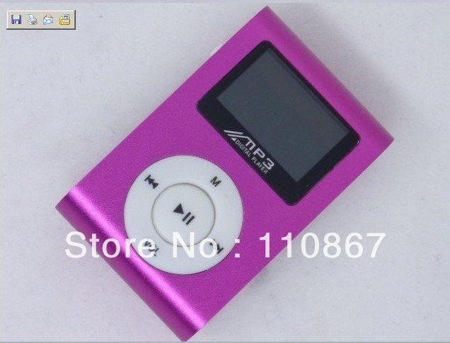 Mini Clip mp3 player with screen and surpport 128M to 8GB TF card No accessories and without crystal box Free shipping DHL 50pcs(China (Mainland))