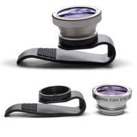 retail Brand New 180 degree Fisheye Fish Eye Detachable Clip Lens for iPhone 4 4S/ iPhone 5/ipad with retail package