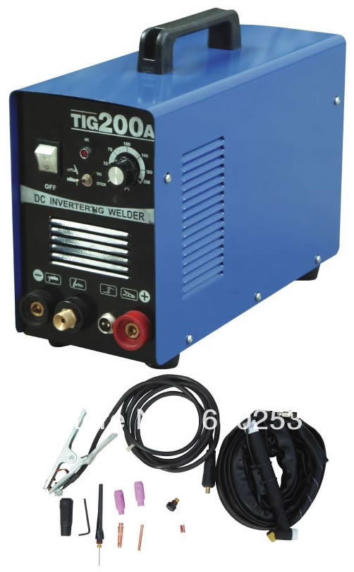 Popular DC Inverter welding equipment TIG welding machine TIG-200 welder, with complete accessories(China (Mainland))