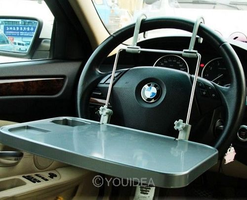 1pc free shipping Car laptop desk car folding desk dining table notebook stand car computer rack(China (Mainland))