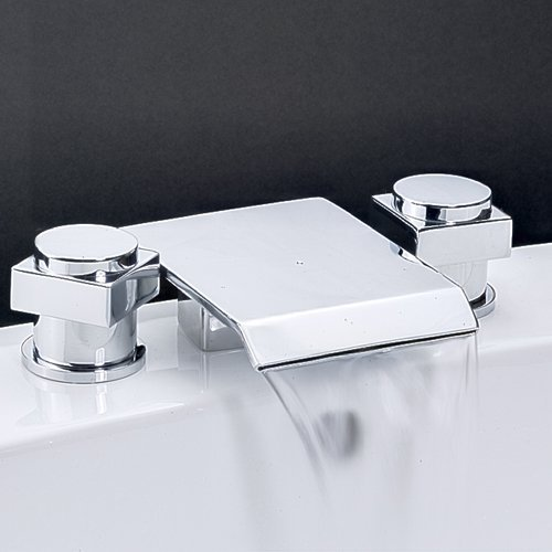 Bathroom Deck Mounted Bathroom Tap Sink or Bathtub Faucet Chrome Faucet(China (Mainland))