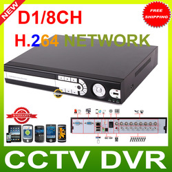 8CH Real-time CCTV Standalone DVR RS485 AND Alarm 8CH Video and 8CH Audio support Remote Viewing by Network and Smartphone(China (Mainland))