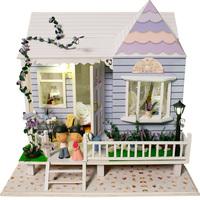Handmade diy assembled wooden model toys gift diy wood dollhouse