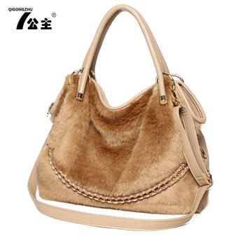 Bags 2013 women's female fashion replica fur handbag one shoulder cross-body bag