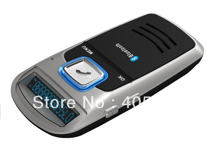 Solar Powered Bluetooth Car Kit Handsfree FM+MP3 Player Free Shipping(China (Mainland))