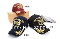 Free shipping,1pcs,Korean version of the gold embroidery baseball caps,Men and women fashion peaked cap,sun hat,3color,wholesale
