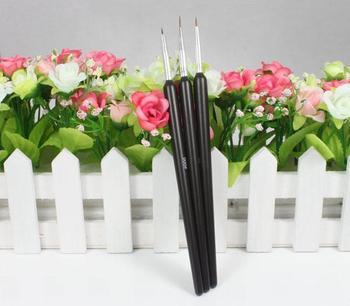 Feitong Lots 3 Nail Art Pen Brush Painting Drawing Pen Tool Set Profession Fashion New Free shipping & wholesale
