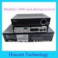 100% free shipping 2013 factory price dvb-s blackbox 500S satellite receiver with black or sliver color in stock
