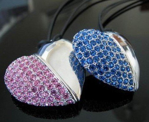 Wholesale/Free Shippig popluar Heart usb pen drive,Jewelry usb stick 2gb 4gb 8gb 16gb(China (Mainland))