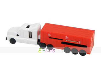 USB Truck Card Reader & Hub Combo With 3-Port USB and 4-slot card reader slots Hub