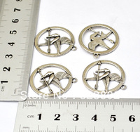 20 PCS Silver Alloy Hunger Games Charms Pendants Connectors DIY Bracelet Necklace Cell Phone Case Jewelry Findings