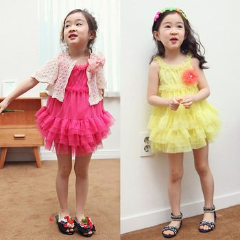 Hot sell!  Free shipping 2013 NWT koreal style 4pcs/lot high quality girl's braces skirt, rose and yellow two colors