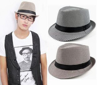 2013 houndstooth fedoras male women's fashion jazz hat
