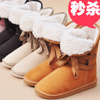 Autumn and winter snow boots 2012 bandage 3 medium-leg boots female boots women's boots  (With free shipping for $10)