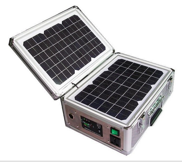 30W Portable solar pv system ,foldable solar panel kit(China (Mainland))