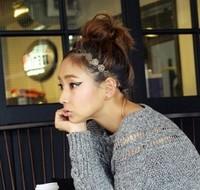 Freeshipping wholesale fashion metal rose elastic headband hairband hair accessory 12pc/lot