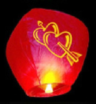 (100pcs/lot)(Free shipping)Wishing Lamp Sky Lanterns birthday wedding party Sky Lamp flying paper Wish gift Flying Lantern