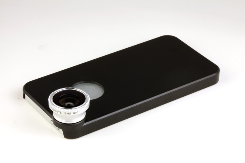 For iphone5 Detachable Magntic 180 degree Fish Eye Lens Fisheye with Back Case Cover Skin(China (Mainland))
