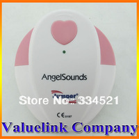 Quality Angelsounds Portable Baby Heart Sound Monitor Fetal Doppler FDA CE design prenatal Monitor US Free Ship Wholesale