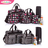 Free shipping Colorland  3Colors 4pcs/set multifunctional mother bag nappy bag one shoulder cross-body handbag large capacity